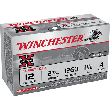 "Winchester Super-X Turkey Loads, 12-ga., 2-3/4"", 1-1/2 oz."
