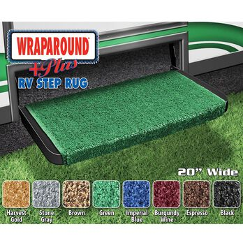 "Wraparound Plus RV Step Rug, 20"", Green"