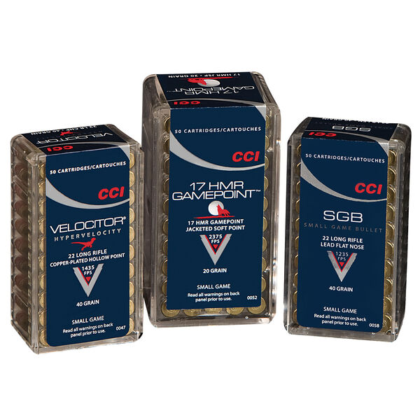 CCI GamePoint Small Game Ammunition, .17 HMR, 20-gr., JSP