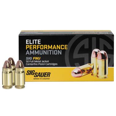SIG Sauer Elite Performance FMJ Ammo, .357 Sig, 125-gr.