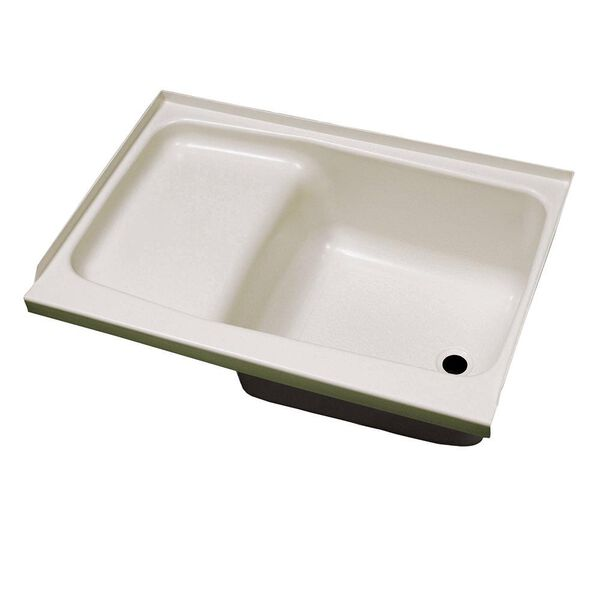 """Replacement ABS Step Tub, 24"""" x 36"""", Parchment with Right Drain"""