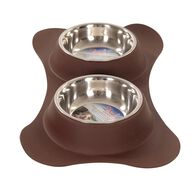 Dolce Flex Diner Pet Bowls, Chocolate