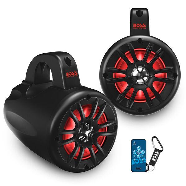 """Boss Audio MRWT40RGB 4"""" Two-Way Waketower Speakers, Pair"""