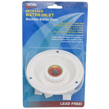 Colonial White Lead-Free Metal Recessed Water Inlet