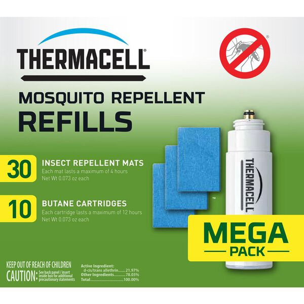 ThermaCELL Mosquito Repellent Refill Mega Pack, 30 Mats