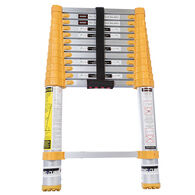 Xtend & Climb Telescoping Ladder, 12ft Orange