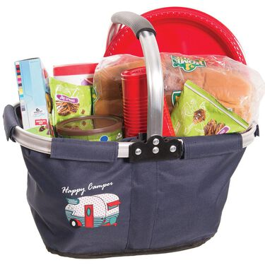 Happy Camper Tri-fold Travel Basket