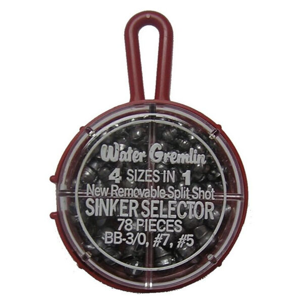 Water Gremlin Sinkers With Selectors, Round Split Shot