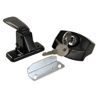 JR Products Locking Camper Door Latch with Keys, Black