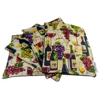 Wine Haute Pads Multi-Purpose Kitchen/Grill Towel and Pot Holder, Set of 4