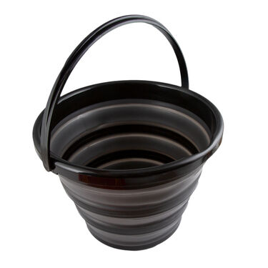 Robert Irvine 10-Quart Collapsible Bucket, Black
