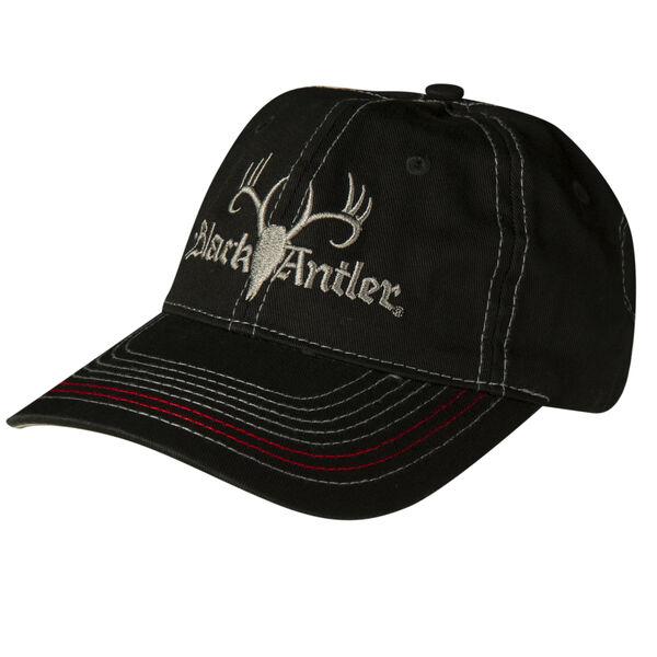 Black Antler Men's Black Logo Cap