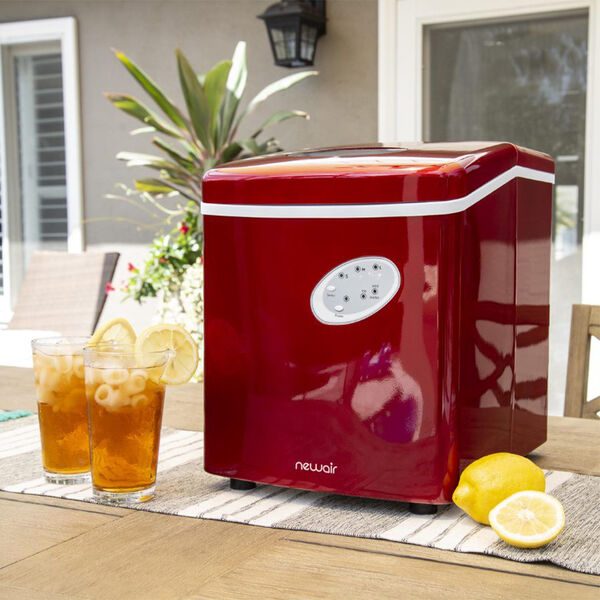 NewAir Countertop Ice Maker, Red, 28 lbs. per Day