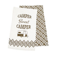 Sweet Camper Dish Towel Set, 2-Pack, Beige