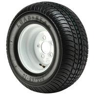 Kenda Loadstar 205/65-10 (20.5 x 8-10) Bias Trailer Tire, 5-Lug Std White Rim