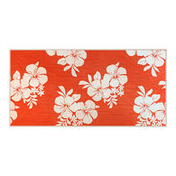 CGear Sand-Free Beach Towel, Orange Hibiscus