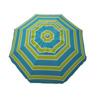 "7 ft Beach Umbrella ""Blue/Green"" with Travel Bag"