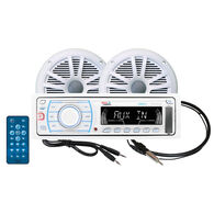 """Boss MOV1307W.6 AM/FM/MP3/iPod Receiver Package With Two 6.5"""" Dual Cone Speakers"""