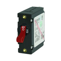 Blue Sea Circuit Breaker A-Series Toggle Switch, Single Pole, 25A, Red