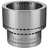 Flame Genie Inferno Wood Pellet Fire Pit with Tote, Stainless Steel