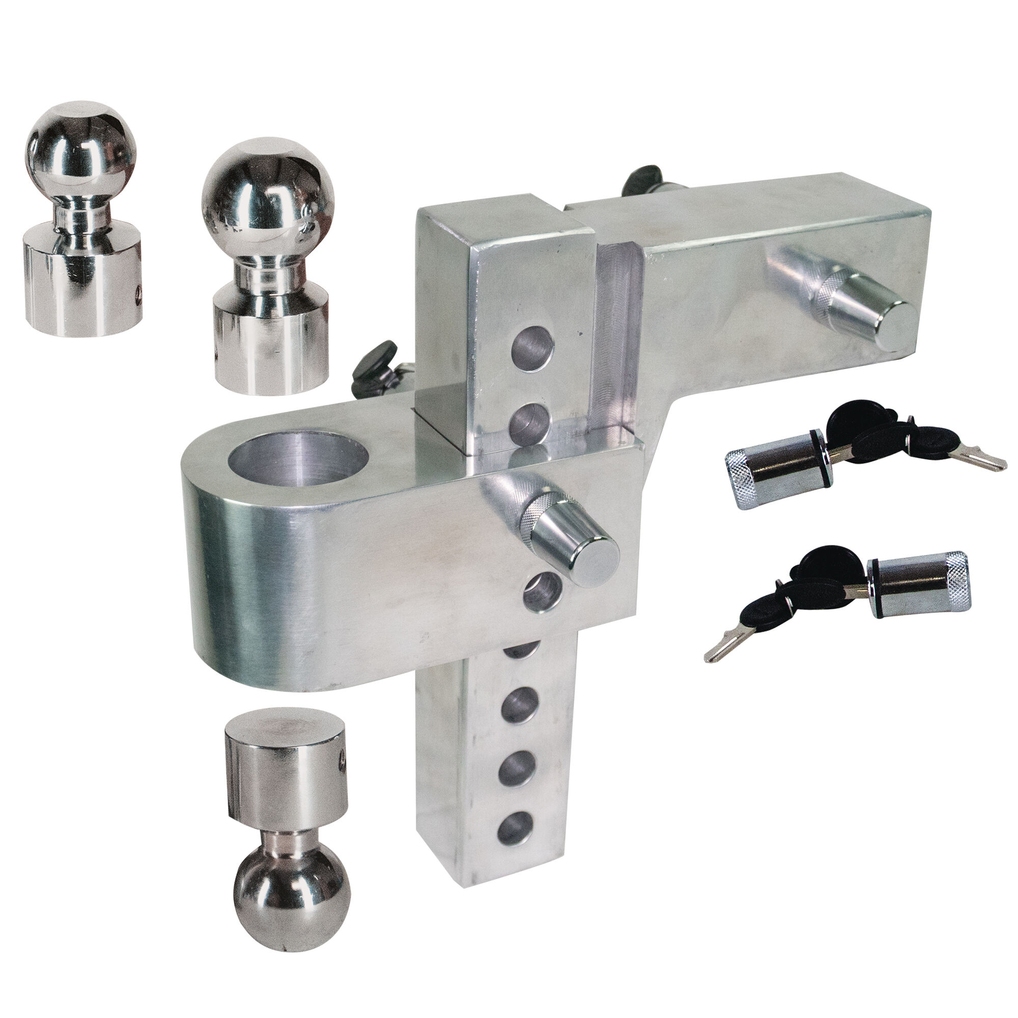 """NEW 8/"""" Drop Receiver Hitch Trailer Rise 2/""""x2/"""" Reciever Ball Mount FREE SHIPPING"""