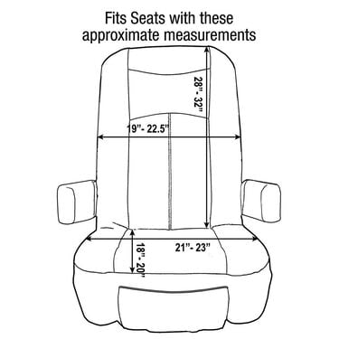 Grip Fit Universal RV Seat Covers, Set of 2