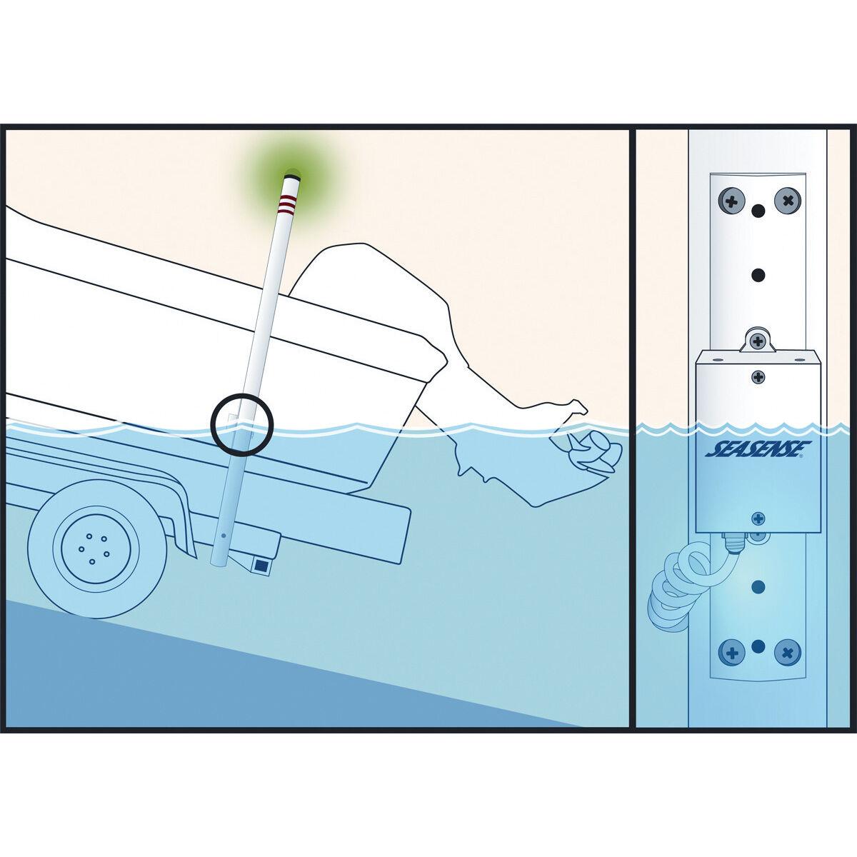 NEW SeaSense Load Mate Led Boat Trailer Depth Light Indicator Retro Kit Complete