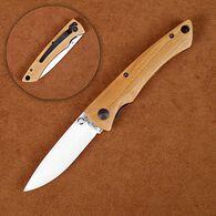 Stone River Ceramic Folding Knife with Olivewood Handle