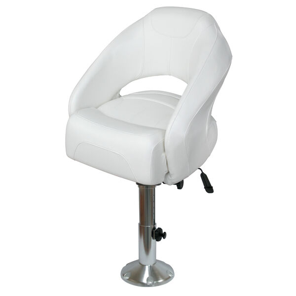 Wise 1217 Bucket Seat with Flip-Up Bolster, Adjustable Pedestal, and Seat Slide