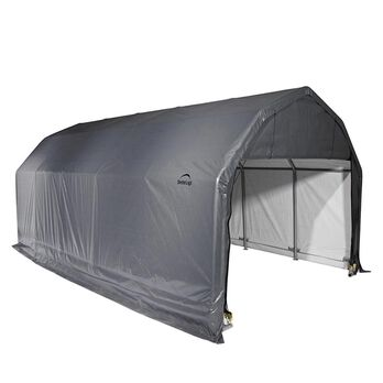 Barn Shelter 12 x 20 x 11 Gray Cover