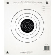 Champion Target 50 Foot Pistol Slow Fire Official NRA Targets, Paper, 12-Pack