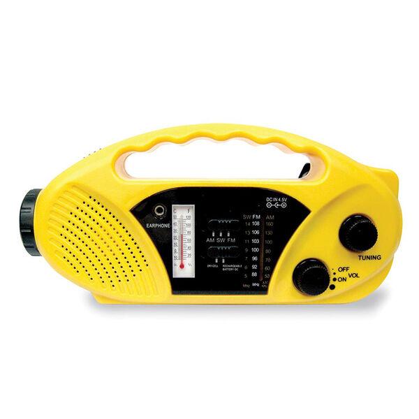 Stansport Crank/Solar/Battery AM/FM/WB Radio and Flashlight