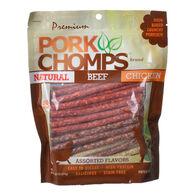 Premium Pork Chomps Assorted Flavors Munchy Sticks, 50-Pack