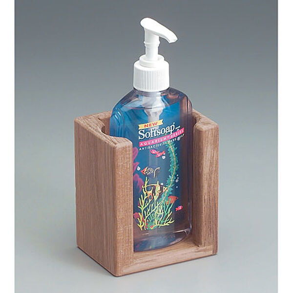 Whitecap Teak Teak Liquid Soap Holder for 10-1/2 oz. Bottle