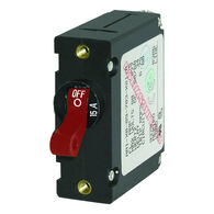 Blue Sea Circuit Breaker A-Series Toggle Switch, Single Pole, 15A, Red
