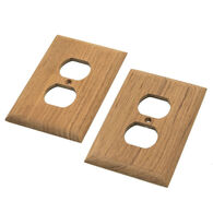 SeaForce Teak Outlet Cover, Receptacle Plate, 2-pk.
