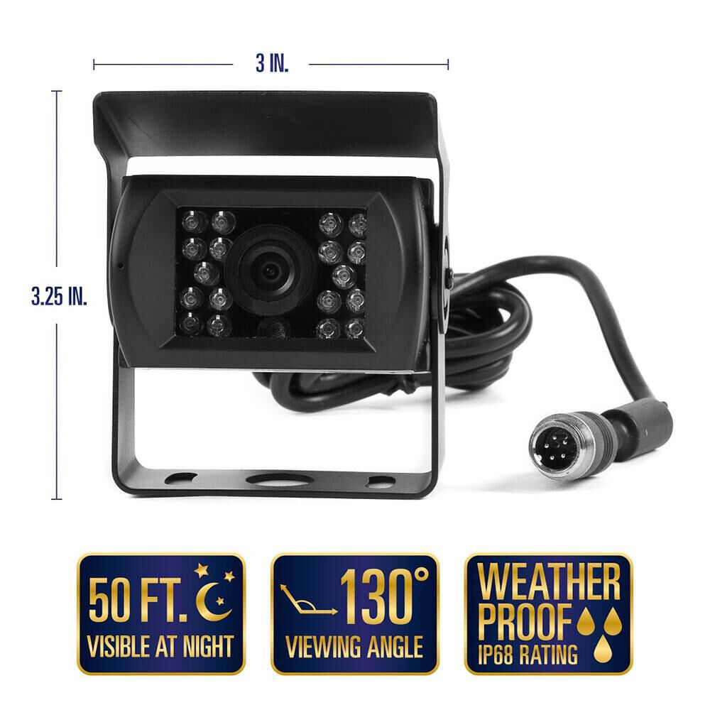 Rear View Safety RVS-770613-213 Backup Camera System with Quick Connect Kit for Fifth Wheels Trailers Travel Trailers and Semi-Trucks