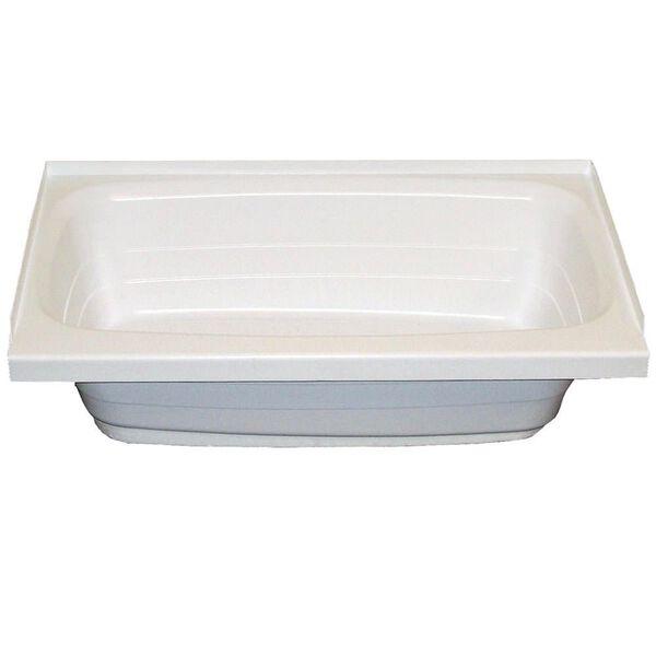 "Lippert Better Bath Bathtub with Center Drain, 24"" x 36"", White"