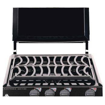 Bi-Fold Cover for Ranges and Slide-In Cooktops, Black