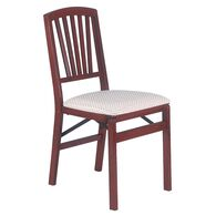 Slat Back Folding Chair, Cherry