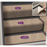 """Decorian Step Huggers for Stairs, 13.5"""", Butter Pecan"""