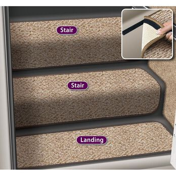 "Decorian Step Huggers for Stairs, 13.5"", Butter Pecan"