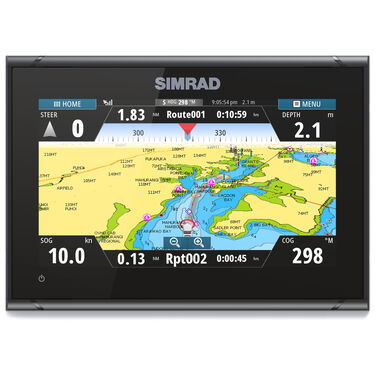 Simrad GO9 XSE Fishfinder Chartplotter With Basemap and HDI Transducer