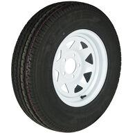 Trailer King II ST205/75 R 14 Radial Trailer Tire, 5-Lug White Spoke Rim