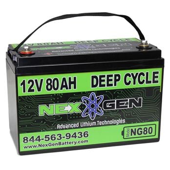 Nexgen 12V Lithium Ion Battery - 12V 80AH Replacement