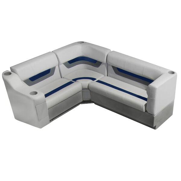 "Designer Pontoon Furniture - 61"" Rear Seat Package, Sky Gray/Navy"