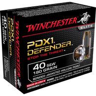 Winchester Supreme Elite Bonded PDX1 Ammo, .40 S&W, 180-gr., JHP