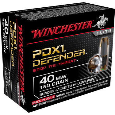 Winchester Supreme Elite Bonded PDX1 Ammo, .40 S&W, 180-gr., JHP