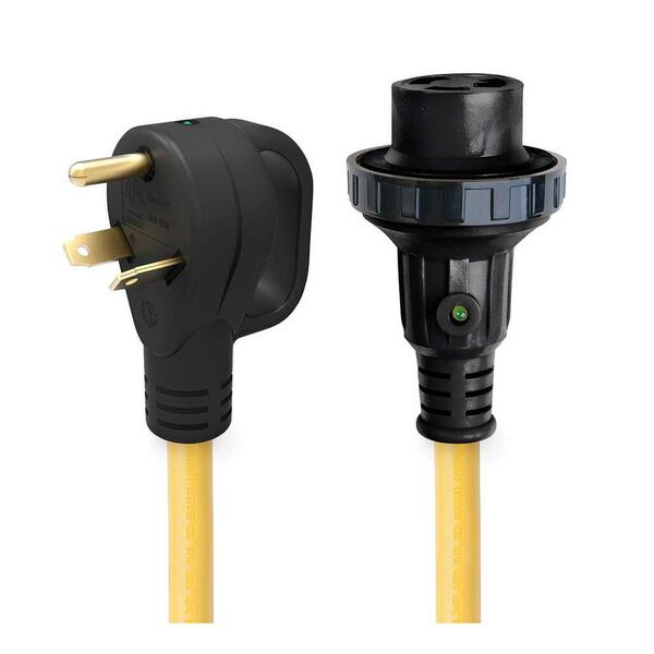 25' 30 Amp Detachable Power Cord with Handle & Indicator Light