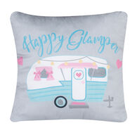 Happy Glamper Pillow